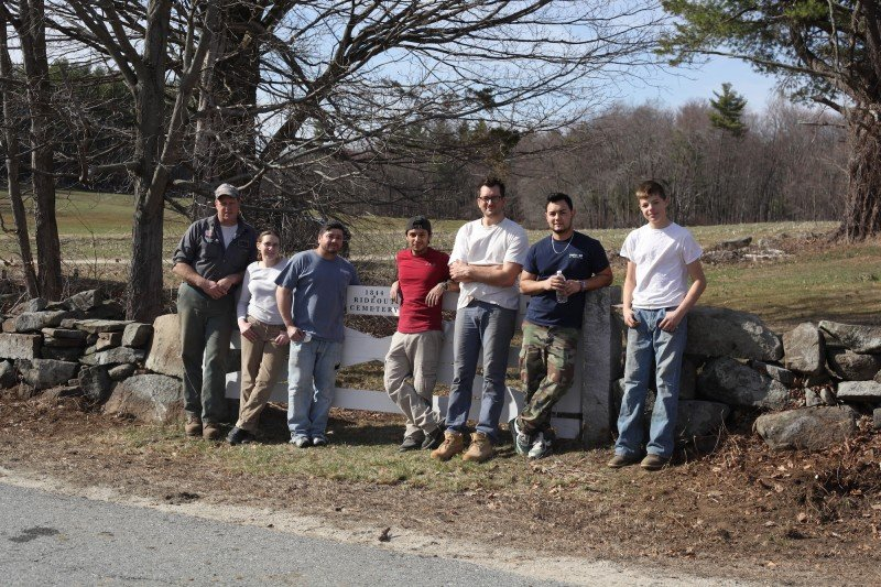 American Stonecraft teams with the Tully family to mend the stone wall around the cemetery.