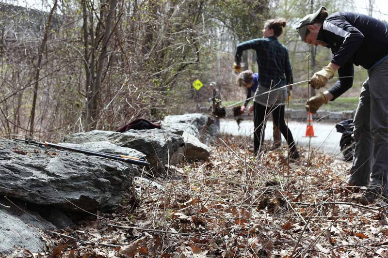 Mending Wall Day 2016 American Stonecraft Boston MA stonewall preservation awareness community service project